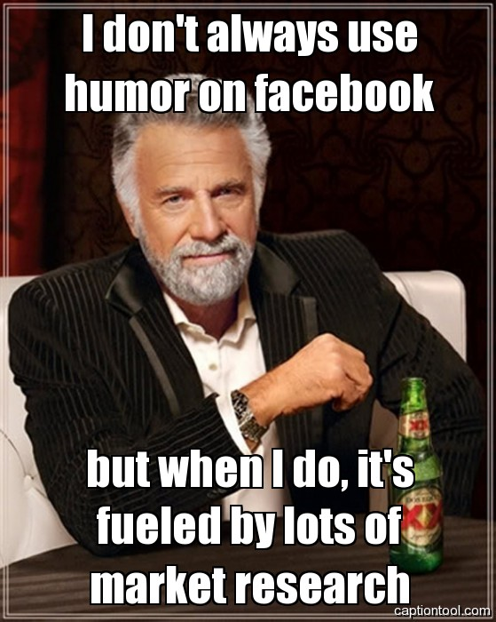Using humor on Facebook