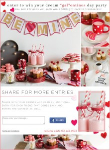 Valentine's Day social media contest on Facebook by Annex Cloud