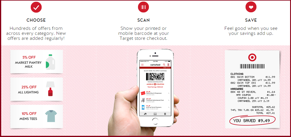 Target's Cartwheel app engages customers on mobile while they're in stores.