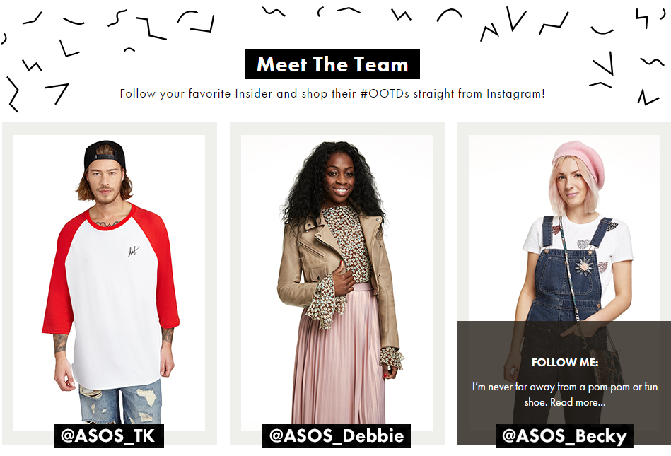 Part of ASOS's success is due to its strong team of stylists.