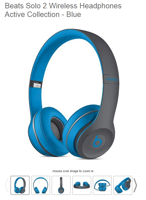Target offers multiple views of even its simpler products, like headphones, making for compelling product page visuals.
