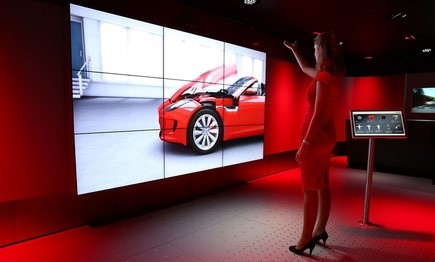 Jaguar's in-store technology is assisted by IBM and several other firms.