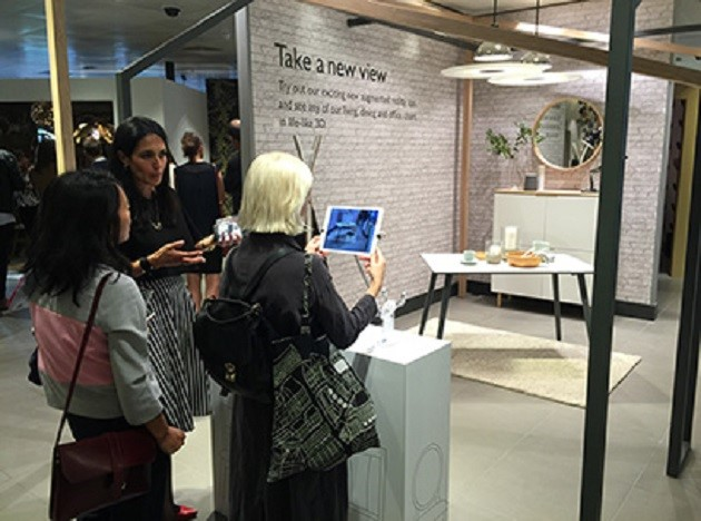 John Lewis has created a virtual showroom for its clients.