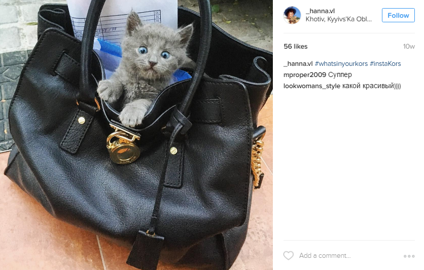 An example photo from a Michael Kors customer with the #WhatsInYourKors hashtag.