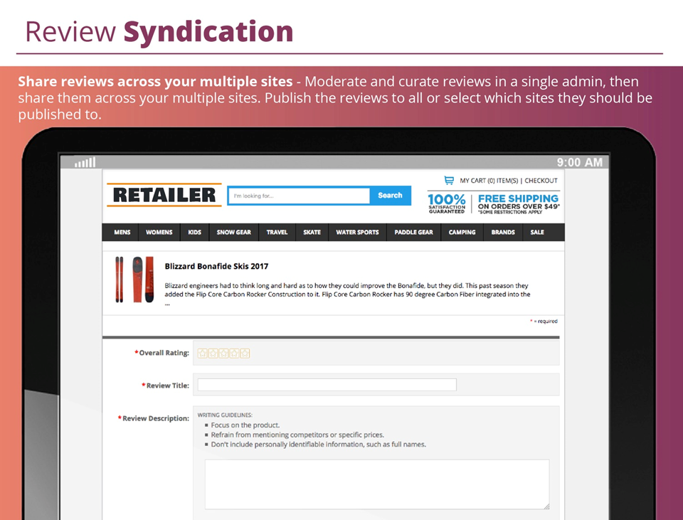 reviews syndication