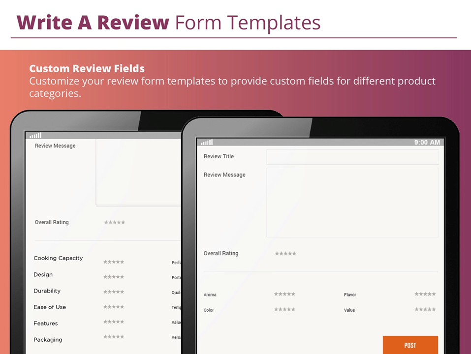reviews templates