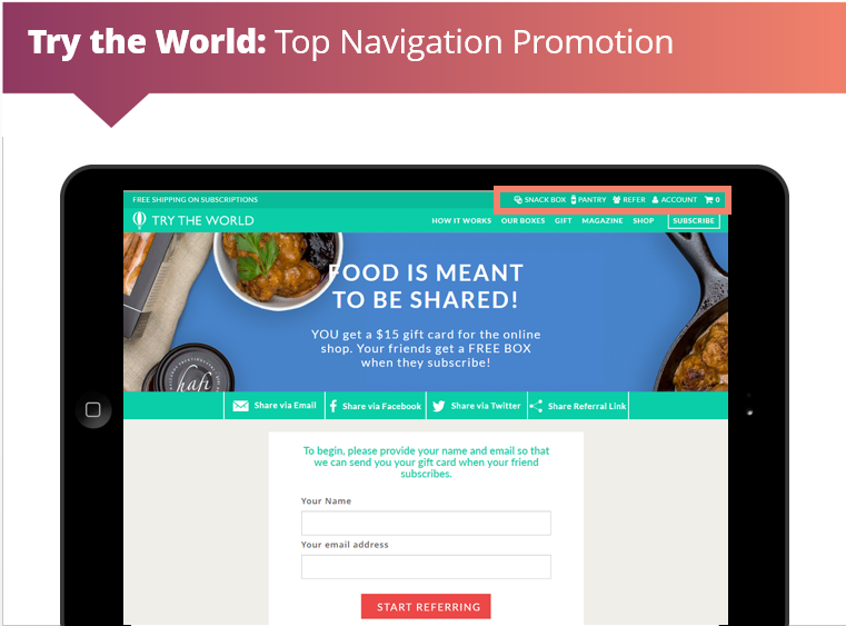 try the world top nav raf slide