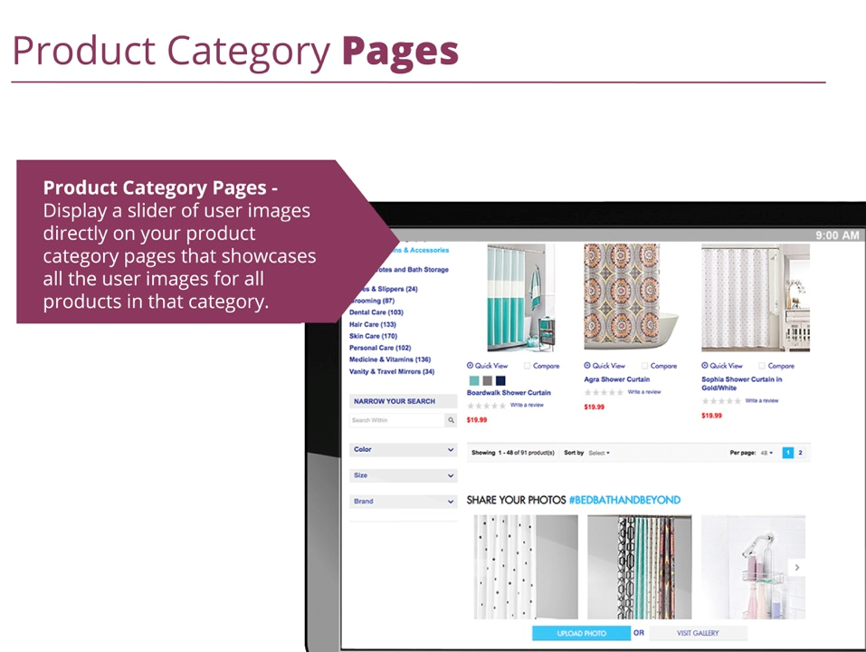 vc category pages display