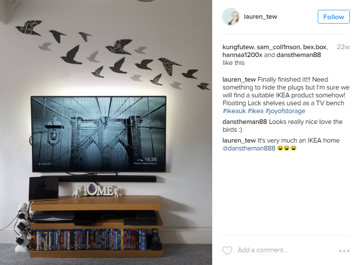 An example of an Ikea customer photo from the campaign.