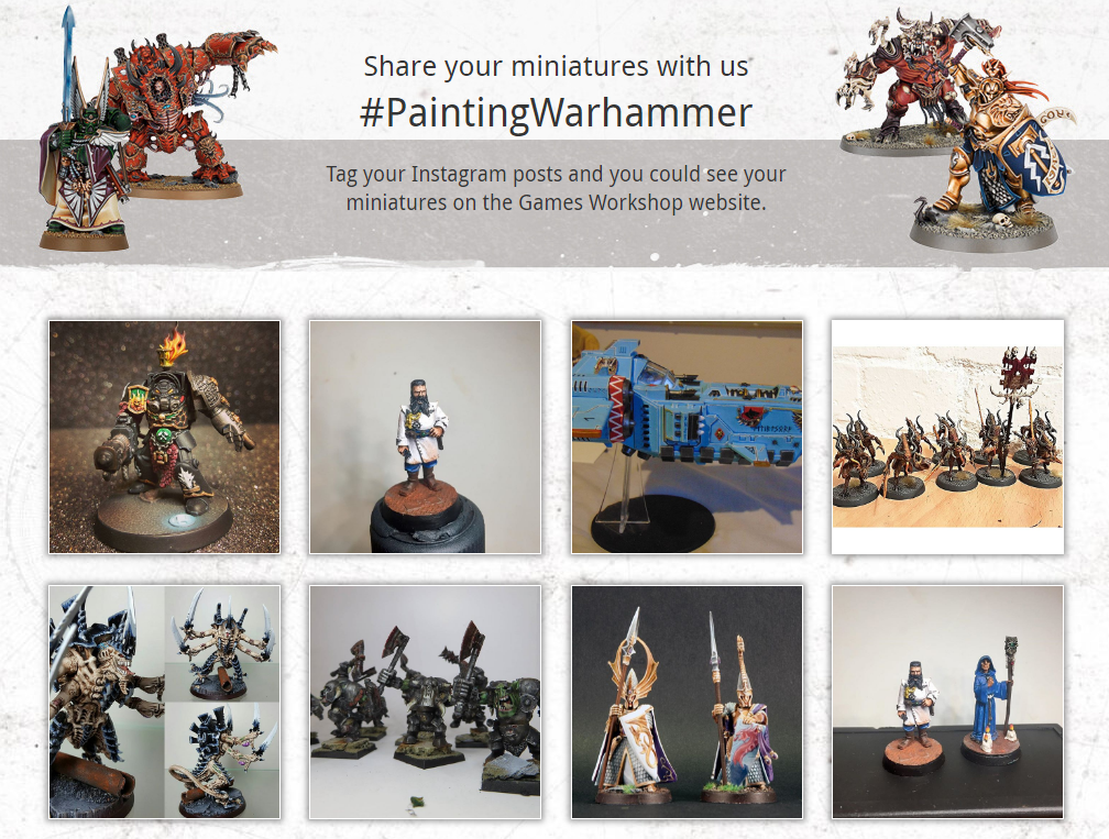Games Workshop uses Visual Commerce to show off its customers' talents.