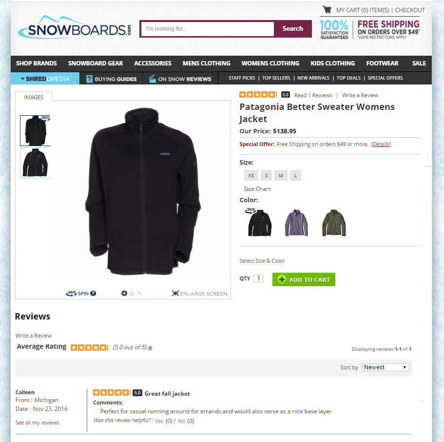 ...and on Snowboards.com