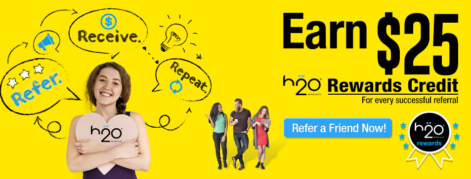 H2O Wireless puts a very friendly face on its referral program.