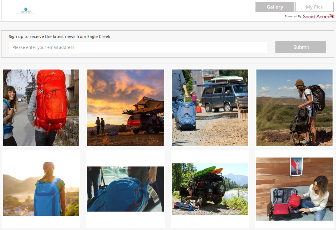 Eagle Creek uses a shoppable Instagram solution to turn visual UGC into conversions.
