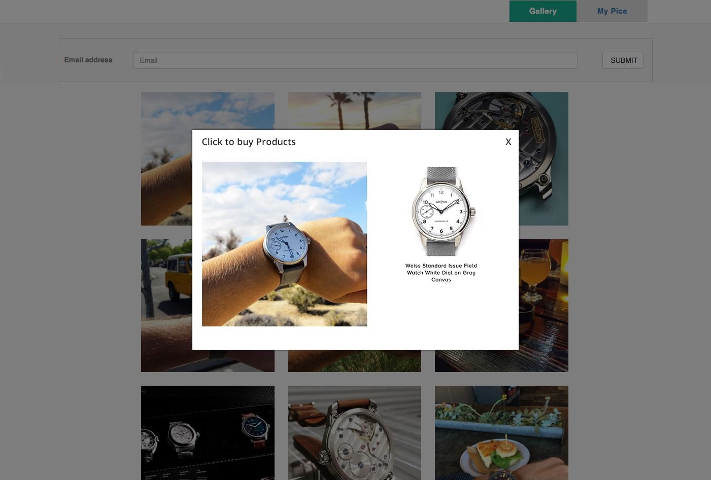 Shoppic makes your Instagram shoppable with a mobile gallery that mirrors your Instagram page.