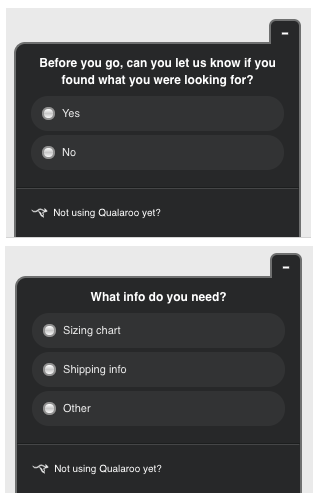 An example exit survey.