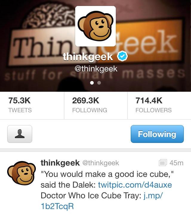 ThinkGeek screenshot