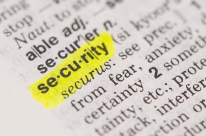 security definition in a dictionary