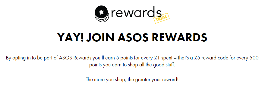ASOS will likely see a strong response about its new rewards program.