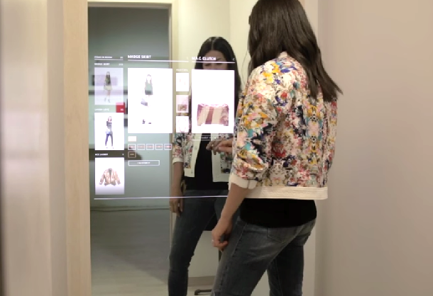 Rebecca Minkoff's in-store technology includes a digital mirror.