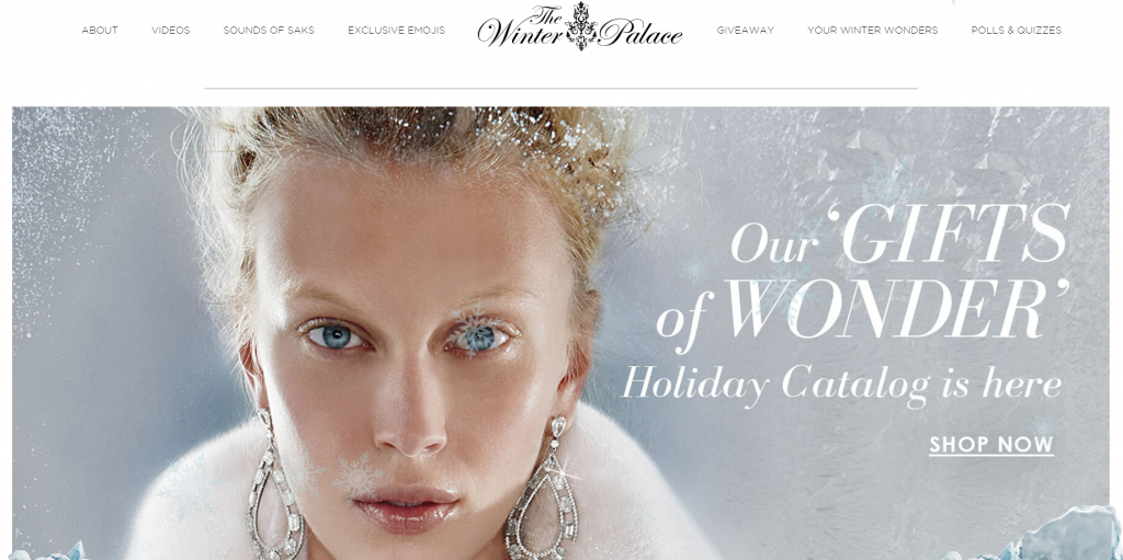 Saks Fifth Avenue did an immersive and exciting standalone holiday site last year. If it had loyalty worked into its strategy it could have done even more!