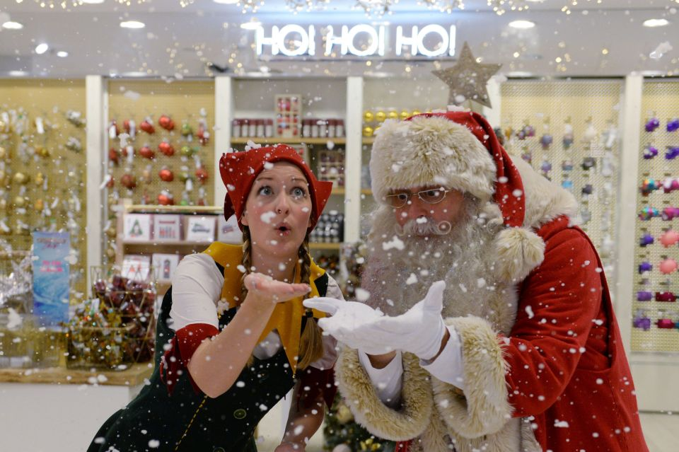 Selfridges opened their Christmas 2016 shop on August 1. Photo: Stefan Rousseau/PA Wire