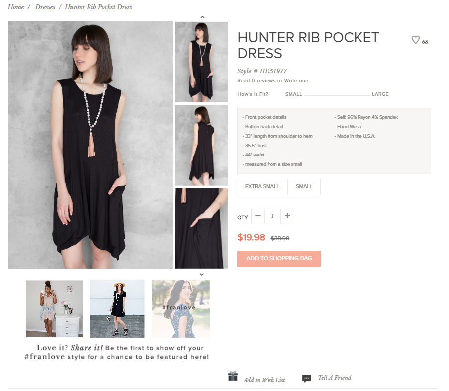 By using visual commerce on its product pages, Francesca's added another dimension to its marketing.
