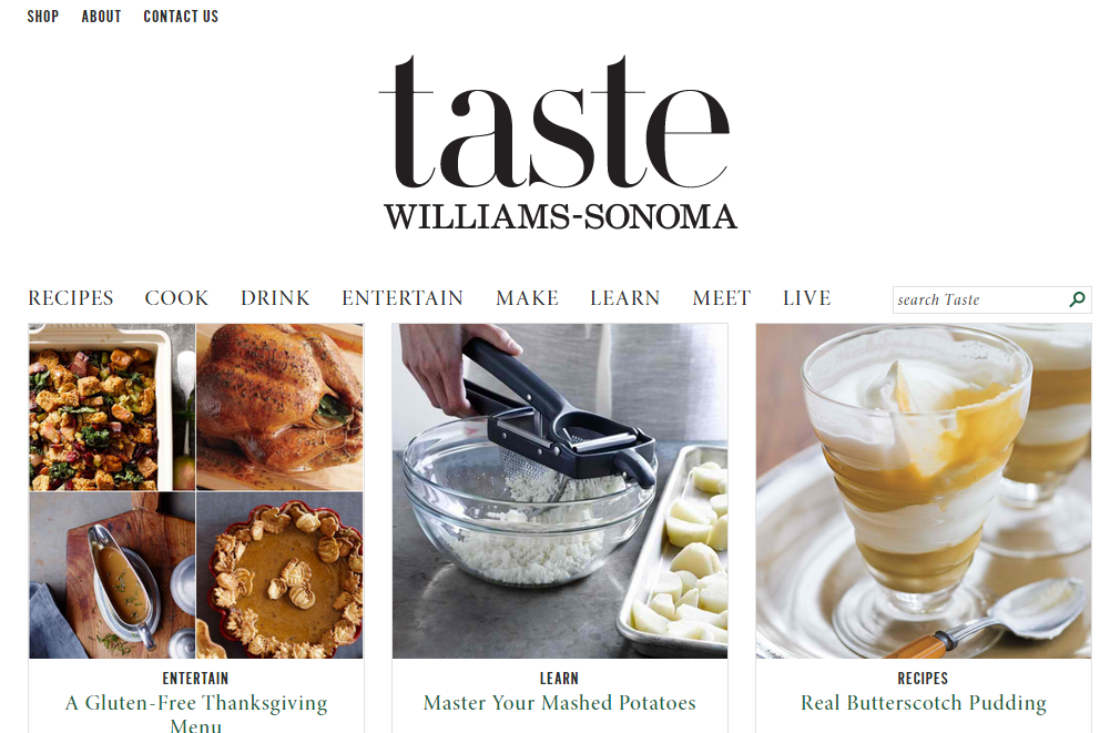 williams sonoma taste