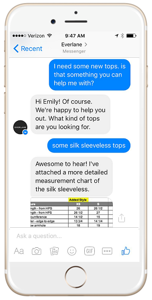everlane fb messenger 2