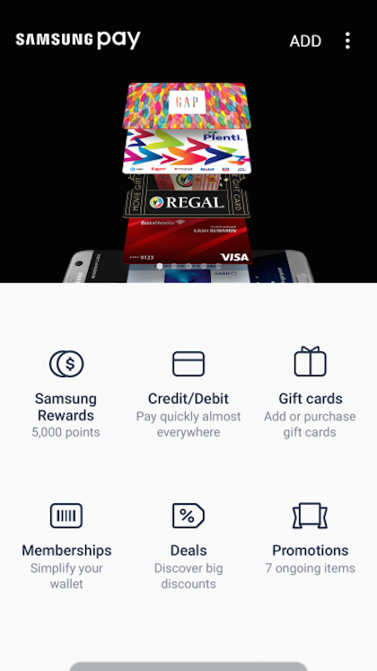 The rewards page within the Samsung Pay app.