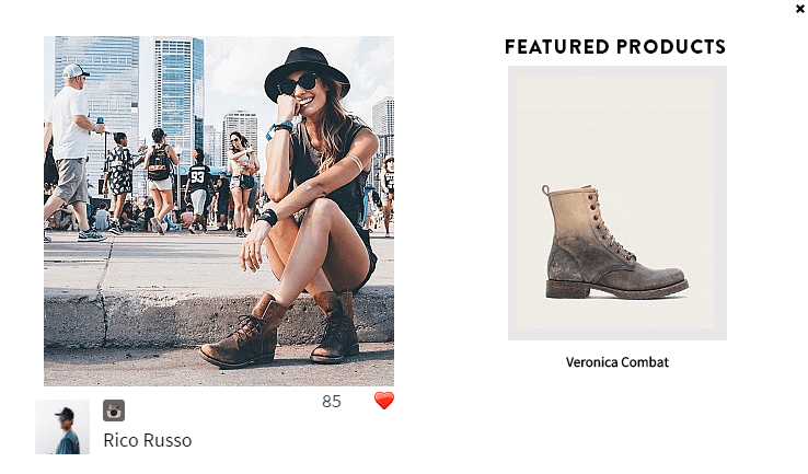 Visual Commerce shows your products and brand in authentic contexts with real customers.