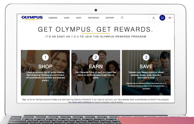 olympus rewards laptop