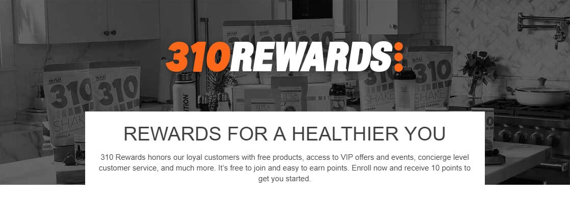310 Nutrition Loyalty Program