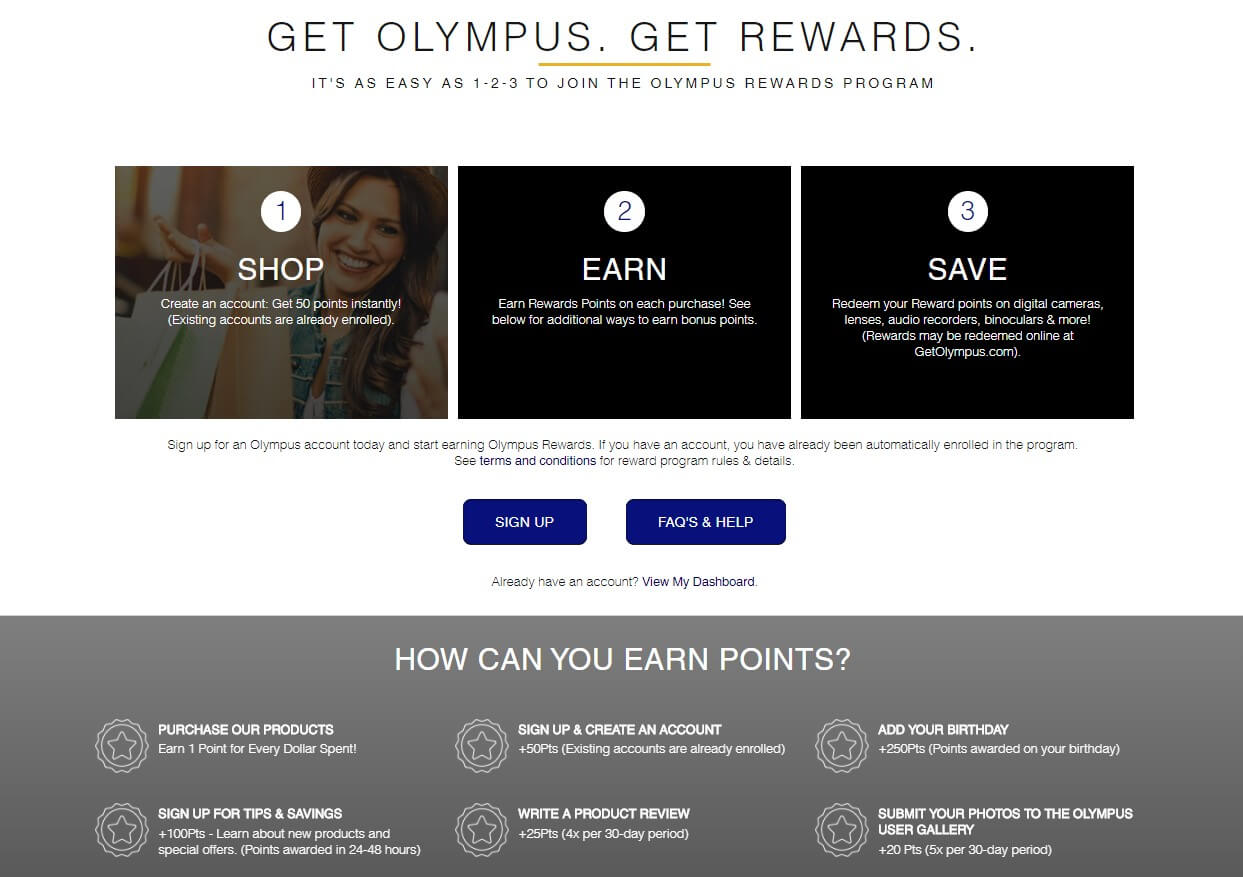 Olympus loyalty program