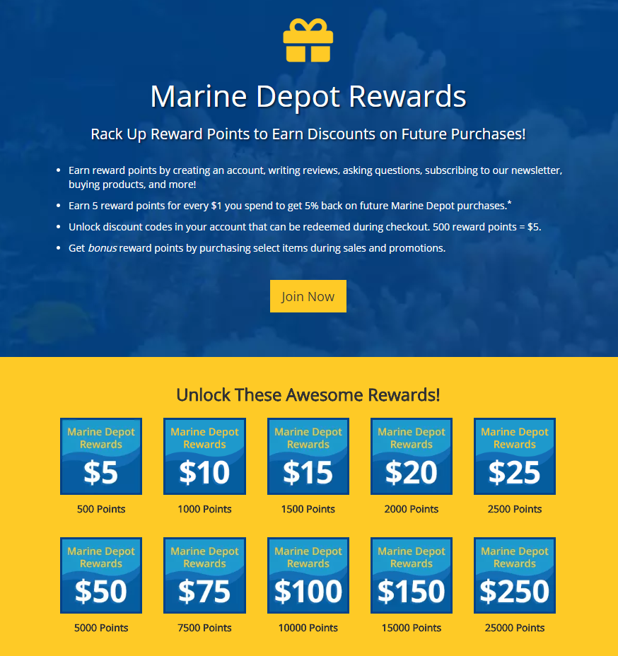 Marine Depot Rewards