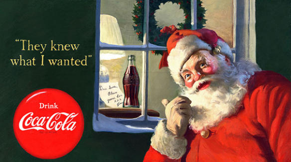 One of Coca Cola's original Santa Claus series