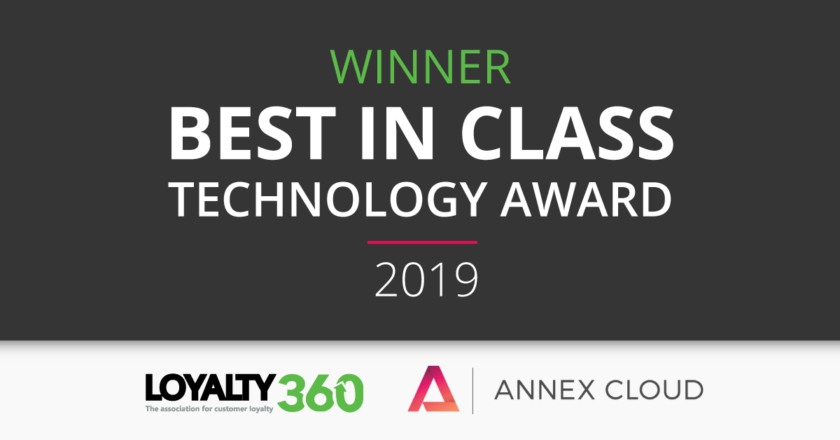 Annex Cloud wins Best in Class Technology 2019 at Customer Expo
